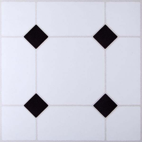 B Q Black   White Tile Effect Self Adhesive Vinyl Tile 1 02m     Pack     B Q Black   White Tile Effect Self Adhesive Vinyl Tile 1 02m     Pack    Departments   DIY at B Q