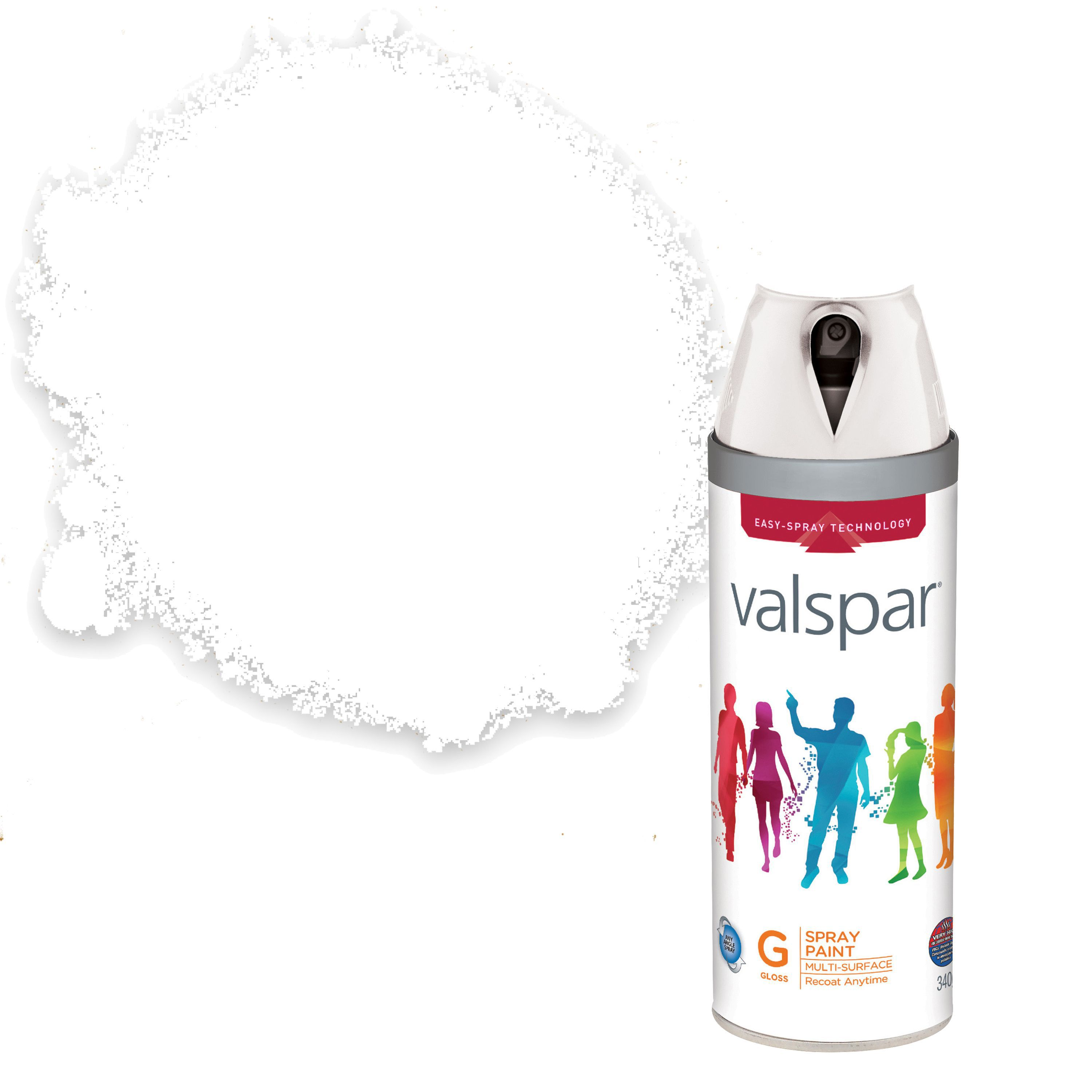 valspar interior exterior white gloss spray paint 400ml on valspar paint id=91905