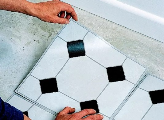 How to lay vinyl floor tiles   Ideas   Advice   DIY at B Q