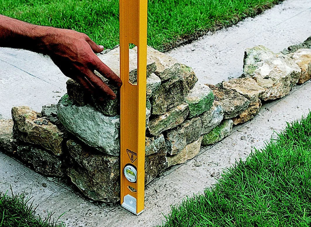 How to build a stone garden wall | Ideas & Advice | DIY at B&Q on Patio Stone Wall Ideas  id=83030