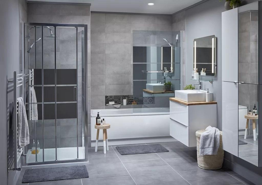 Contemporary bathroom ideas | Ideas & Advice | DIY at B&Q on Contemporary Small Bathroom Ideas  id=88506