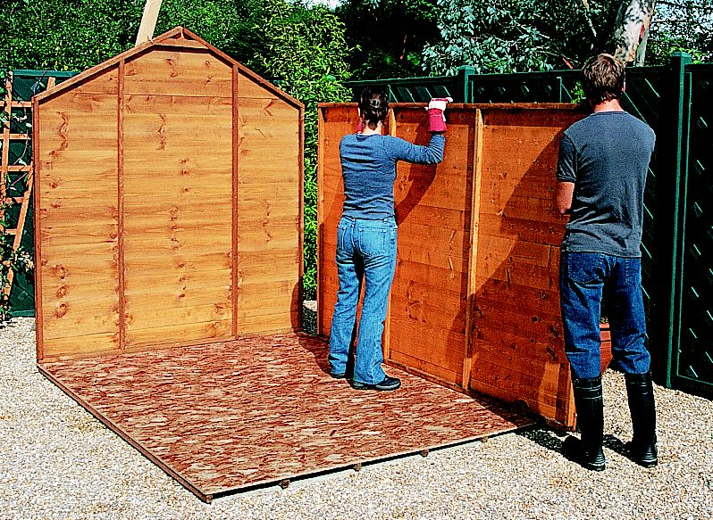 Wood Shed Materials List Building Shed On Fence Line