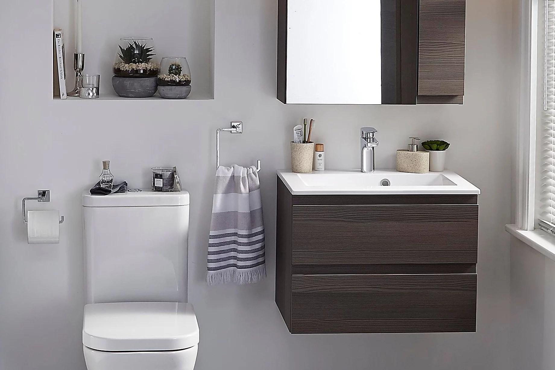 Small bathroom ideas | Ideas & Advice | DIY at B&Q on Small Bathroom Ideas id=67212