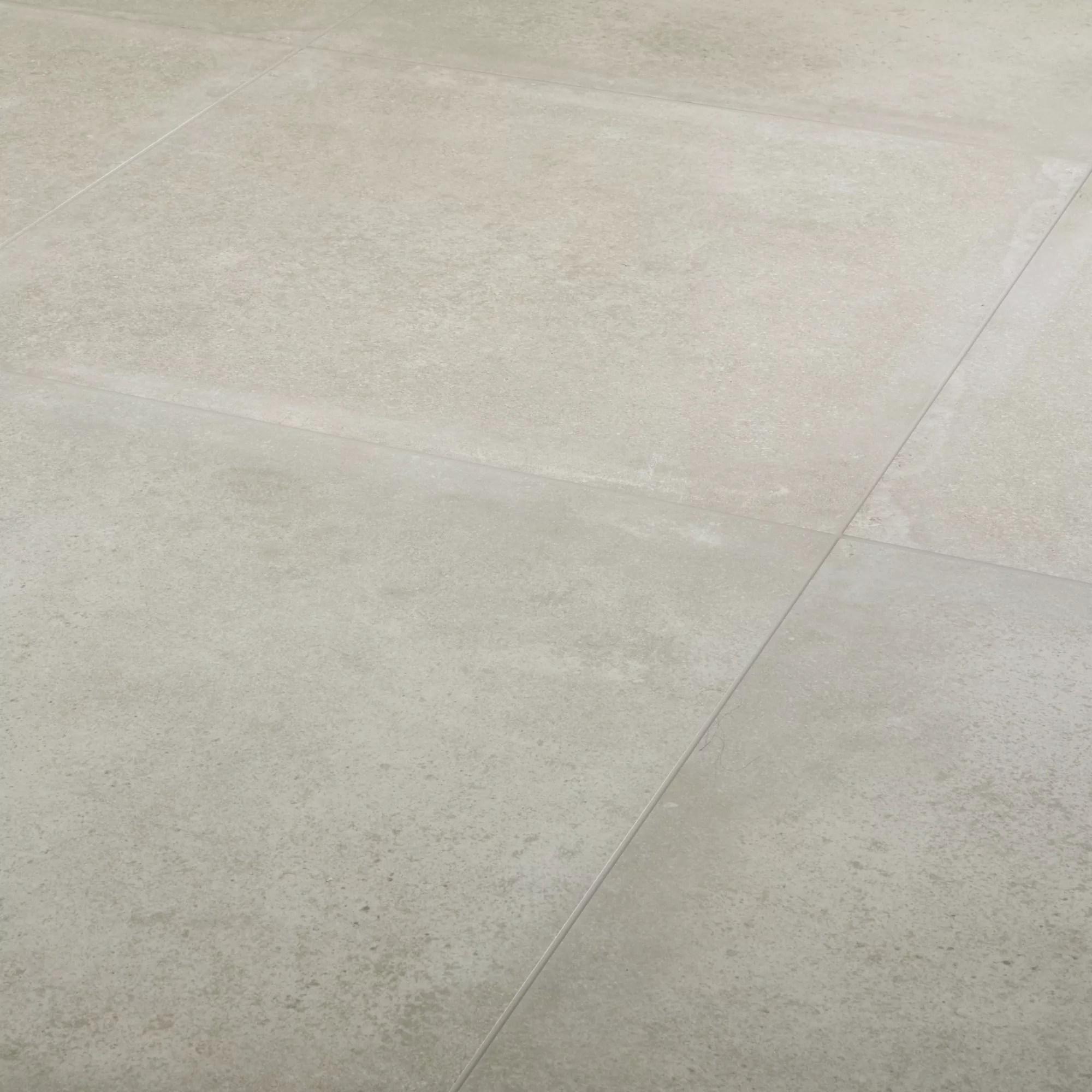kontainer greige matt concrete effect porcelain floor tile pack of 3 l 590mm w 590mm