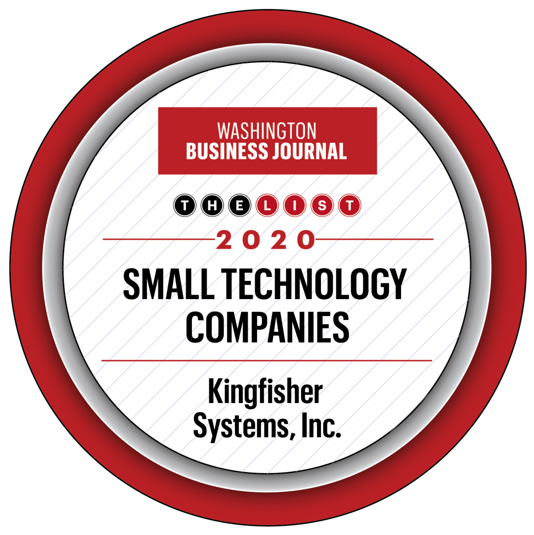Kingfisher selected as a top-performing small technology company in greater D.C.
