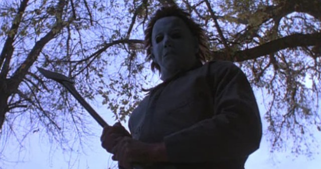 Michael; Myers Standing with Weapons