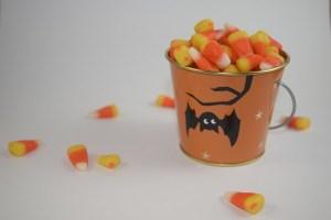 Candy Corn Halloween Buckets