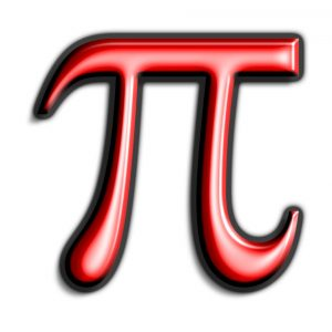 Symbol for Pi Red