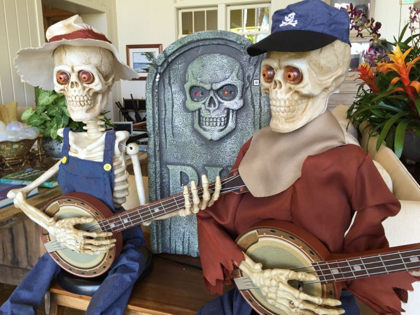 Skeletons Playing Halloween Party Songs