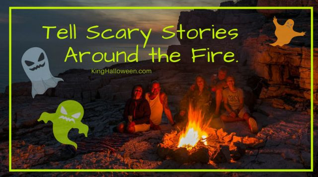 People Telling Scary Campfire Stories