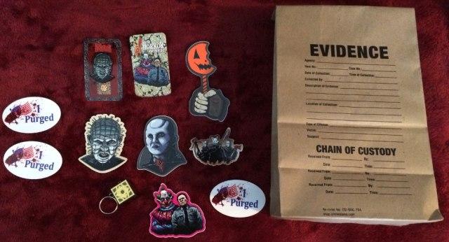 Halloween Stuff and evidence bag