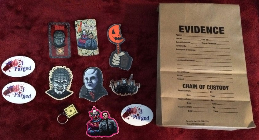 Halloween Stuff and evidence bag