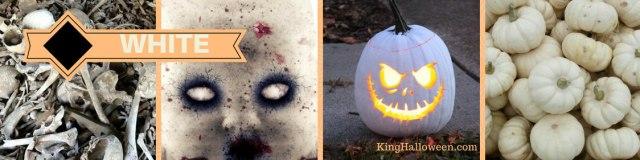 Halloween color white represents