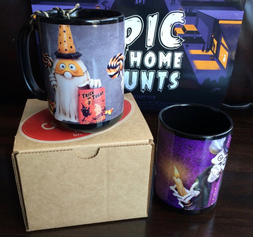 Ghost and Skeleton Halloween Mugs