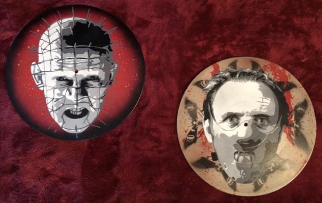 Halloween stuff Hannibal and pinhead records