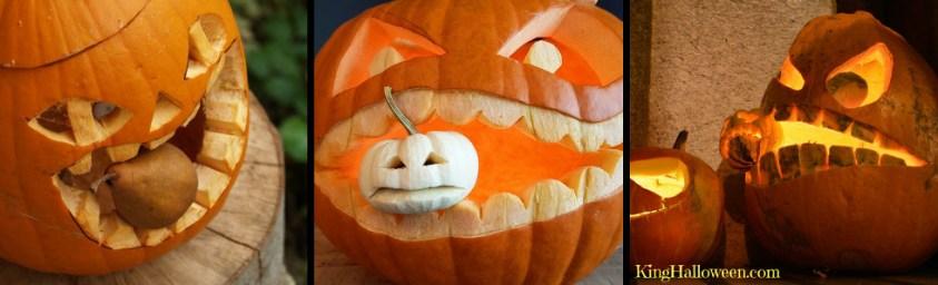 Pumpkin eating another pumpkin cannibal graphics