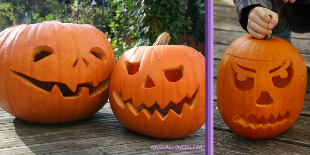 Simple pumpkin carving ideas two classic images