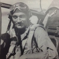Don Penning in his WWII aircraft.