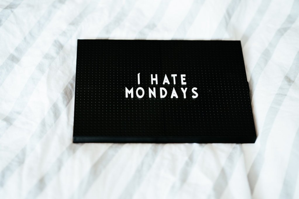 Picture showing i hate Mondays