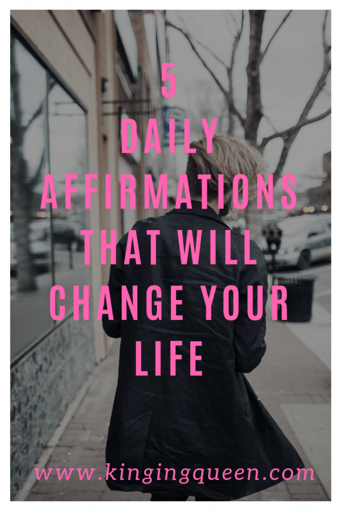 photo with inscription 5 daily affirmations that will change your life
