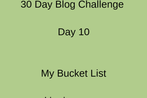 pic showing my bucket list day 10 of 30 day blog challenge