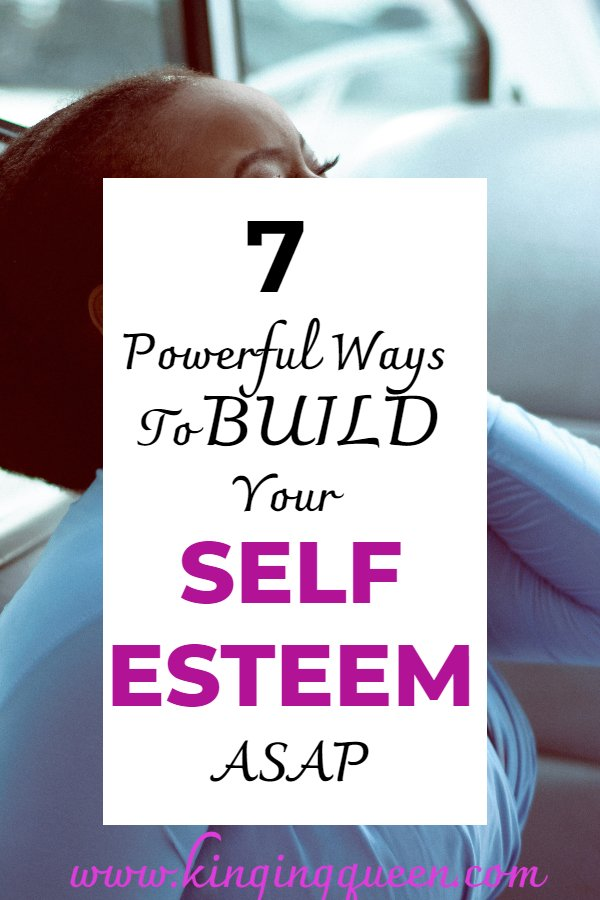 graphic showing how to build self esteem