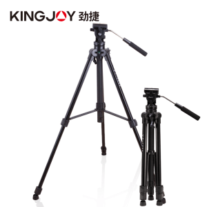 Kingjoy professional video camera light weight fluid tripod stand for photography