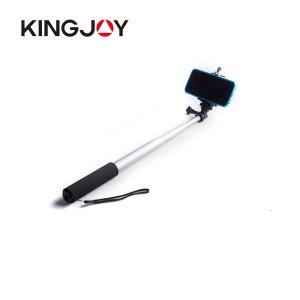 Kingjoy Hot selling fashion colorful aluminum handheld monopod selfie stick for cell phone