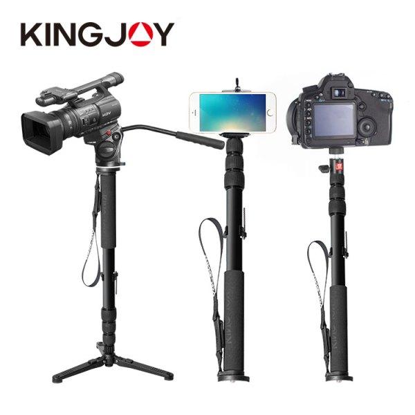 KINGJOY professional aluminum extendable handheld selfie stick monopod for camera smartphone