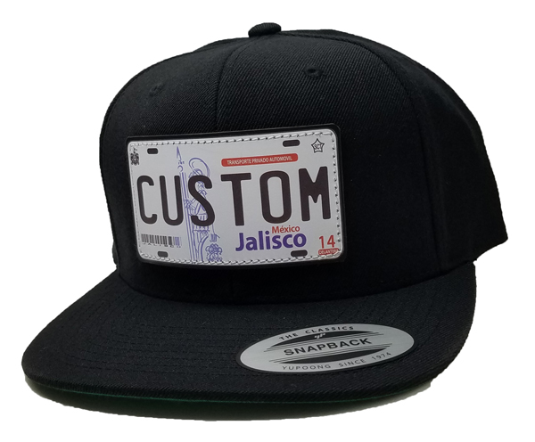 a86c2c926a0 JALISCO License Plate Hat (WHITE PATCH   BLUE LETTERS)