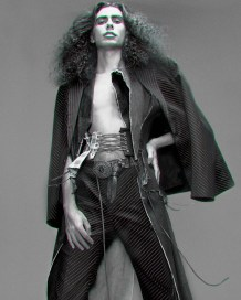 Suit jacket - Y- Projects | Denim Coat - Ferry Schiffelers | Corset - Rachael Cheong | Belt - Vintage @ Episode | Trousers - Y- Projects