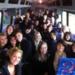 inside 28 passenger bus