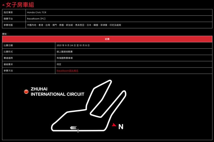 「挑戰者盃」亞洲電競賽車錦標賽 -
