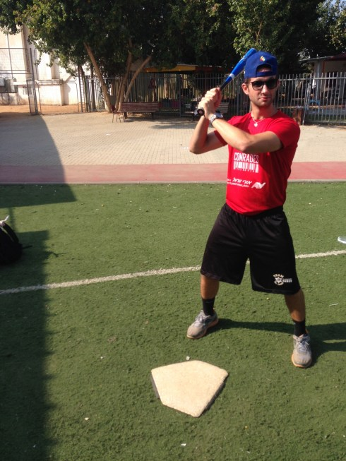 Israeli Coach Stevie shows the kids what a home run looks like!