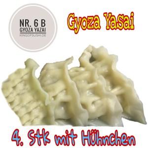 Gyoza Yasai 2,4,m  4 Hühnerfleischteigtaschen (gedämpft)