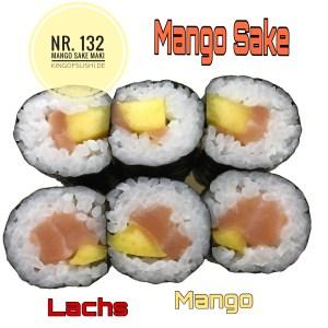 132. Mango Sake Maki Lachs & Mango