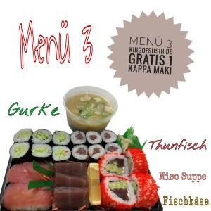 Menü 3 Thunfisch -Sashimi