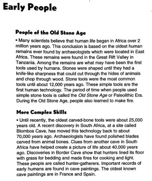 Chapter 1 Early People | Mr Proehl's Social Studies Class