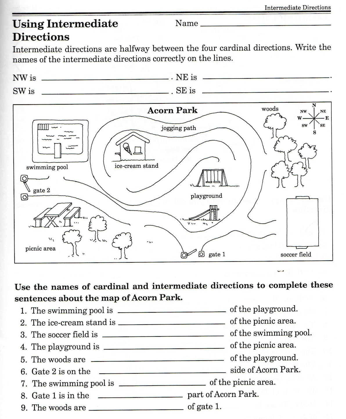 Geography Worksheet Grade 5