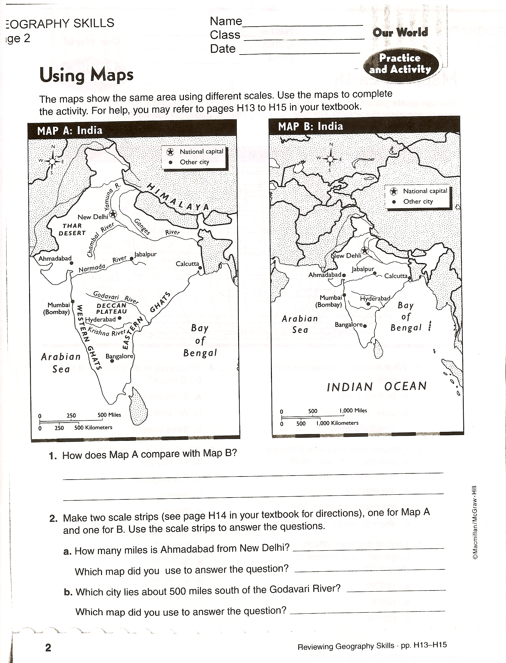 Ancient Egypt Map Activity Worksheet