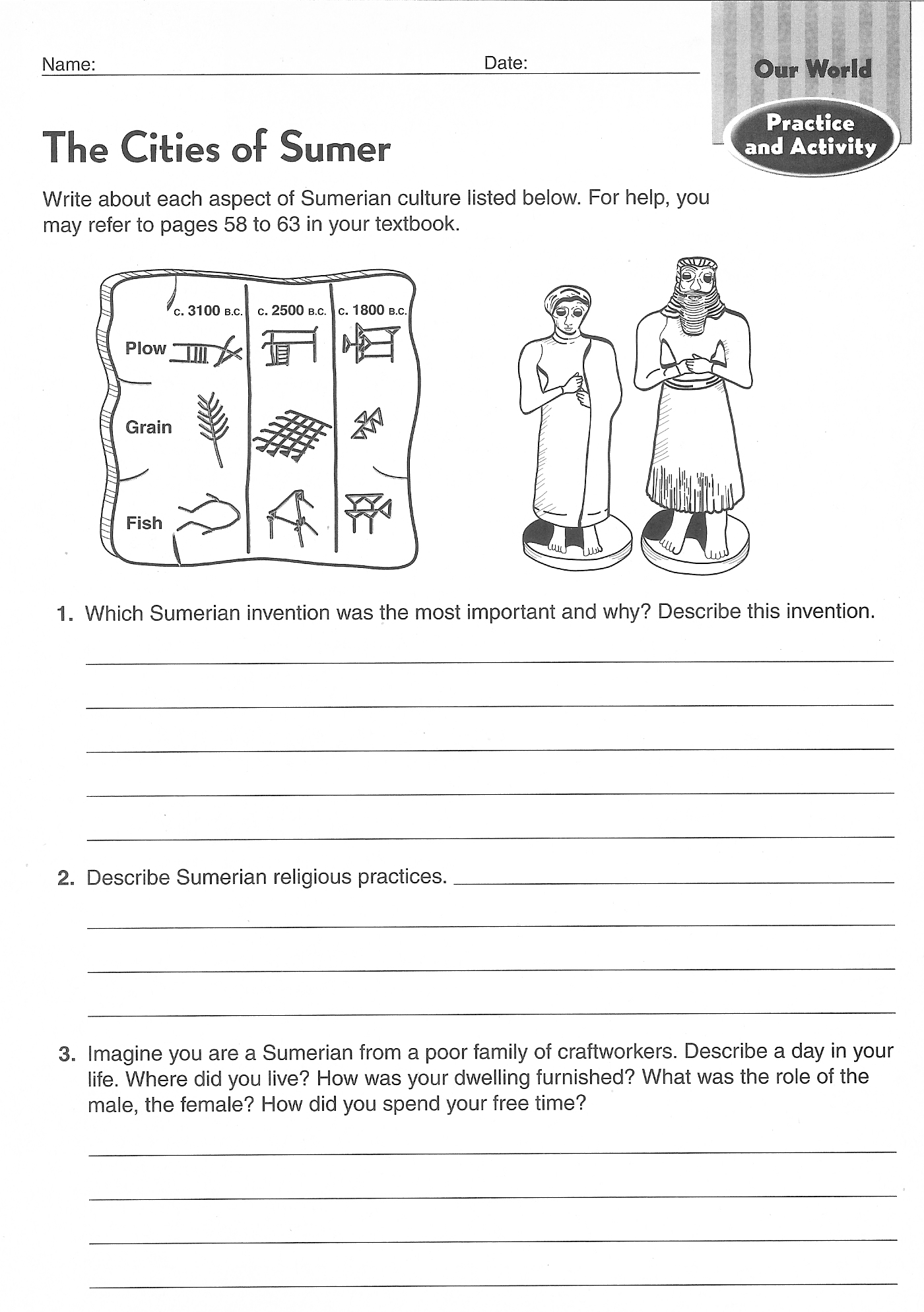Geography Worksheet New 256 6th Grade Social Stu S Geography Worksheets