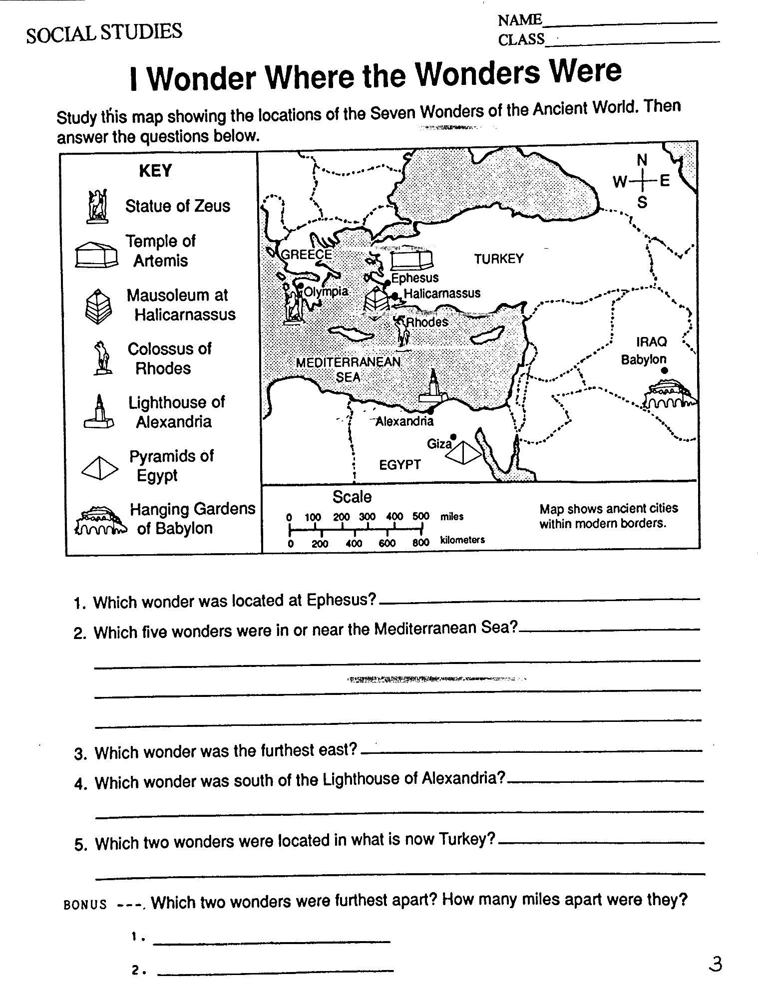 Grade Six Worksheet