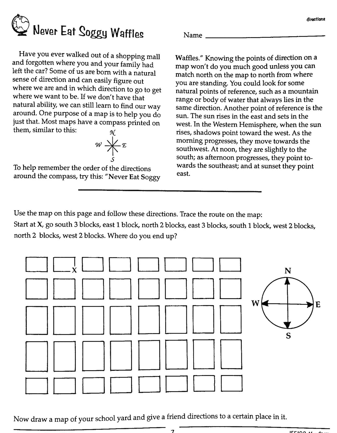 Worksheet Cardinal Directions Worksheet Worksheet Fun