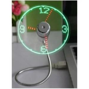 USB-tuuletin LED-kello