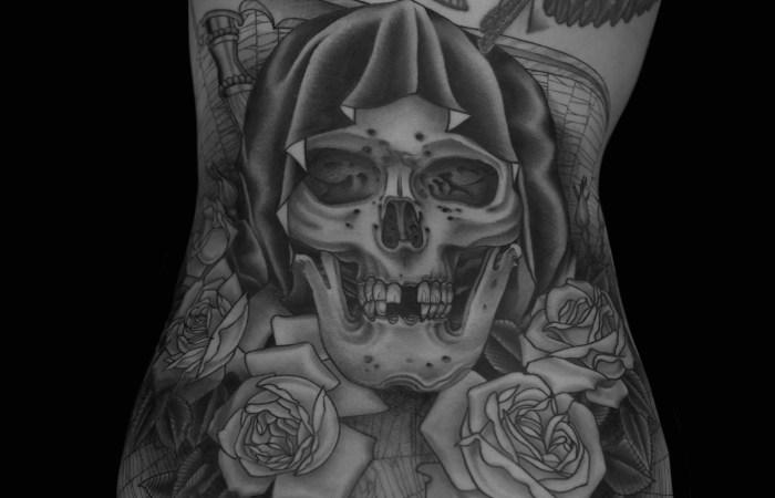 Zac Scheinbaum Skull Back Piece