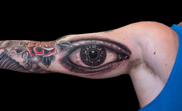 Justin Essing Eye Tattoo