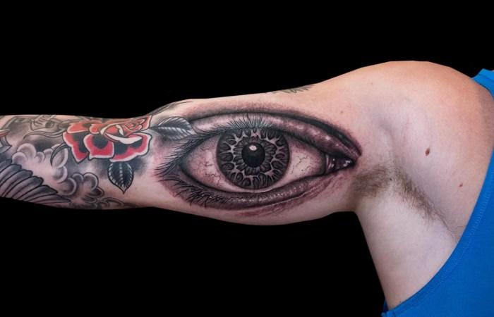 Justin Essing Eye Tattoo