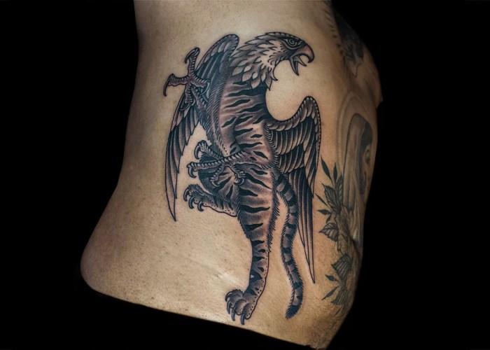 Grez Tiger Griffin Tattoo
