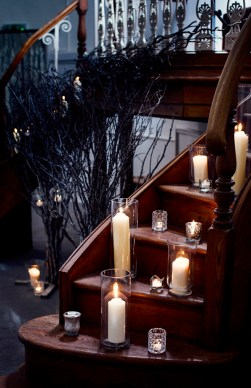 Candles on Pulpit Steps