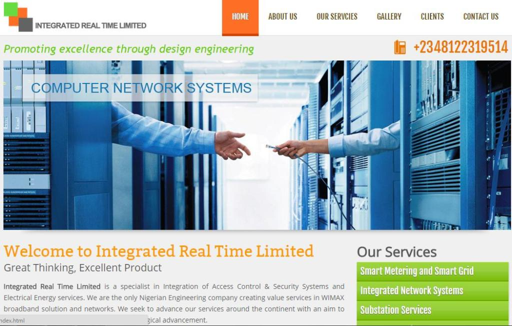 Integrated Real Time Limited is a specialist in Integration of Access Control & Security Systems and Electrical Energy services. We develop the company website. Visit Website